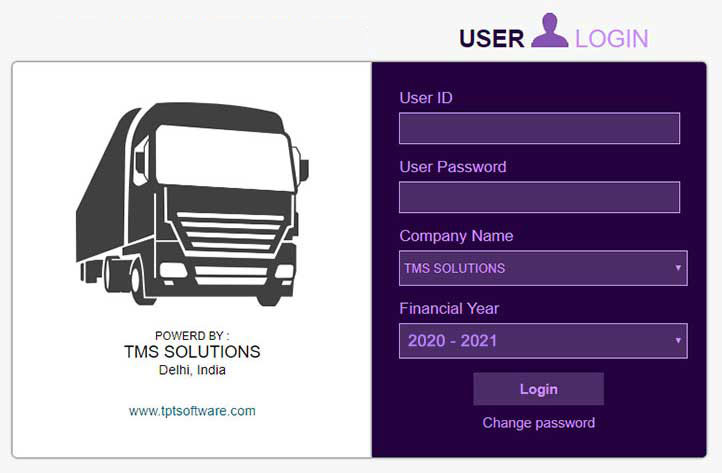 tms system login panel